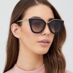 Prada Black & Gold Sunglasses